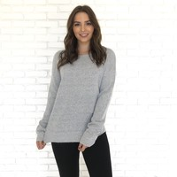 Cozy and Casual Knit Sweater in Grey