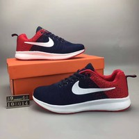 """""""Nike Air Fashion Hollow"""" Summer Unisex Sport Casual Multicolor Knit Breathable Sneakers Couple Running Shoes"""