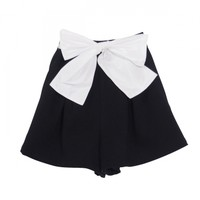 Ribbon punch short pants