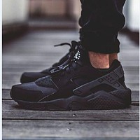 """NIKE""AIR Huarache New Fashion Running Sport Casual Women Men Shoes Sneakers Black"