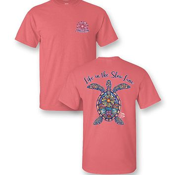 Sassy Frass Preppy Slow Lane Turtle T-Shirt