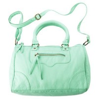MOSSIMO SUPPLY CO. MINT GREEN Colored Washed Satchel