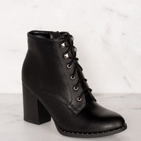 Own It Black Lace Up Boots