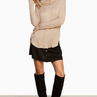 ShopSosie Style : Alessa Sweater in Taupe