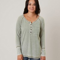 GILDED INTENT BURNOUT HENLEY TOP