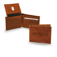 New England Patriots  Embossed Leather Billfold