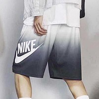 NIKE New fashion letter hook couple gradient shorts