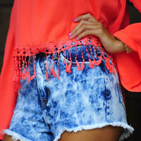 Top Of The World High Waisted Shorts | Hope's