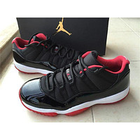 "Air Jordan 11 ""Bred"" cushioning sneakers shoes"