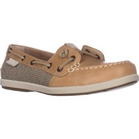 Sperry Top-Sider Coil Ivy Boat Shoes, Tan Leather/Can, 7 US / 37.5 EU