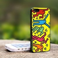 Keith Haring Pop Art - For iPhone 5 Black Case Cover