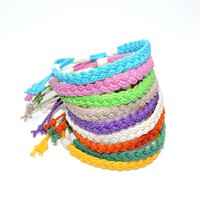 Adjustable Woven Anklet, Tropical Colors