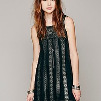 Free People Womens FP ONE Foiled Annabella Dress - Black, S