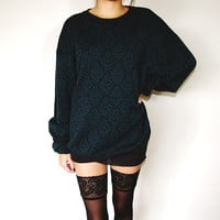 Nordstroms  Charcoal and Teal Sweater