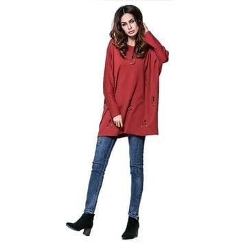 Large Size Women T-Shirts Tops M-2XL Autumn New Fashion Loose Big Size Solid Color V-Neck Tees Oversized Casual Clothes