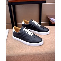 HERMES 2021 Men Fashion Boots fashionable Casual leather Breathable Sneakers Running Shoes07060cc