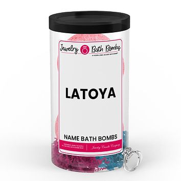 LATOYA Name Jewelry Bath Bomb Tube