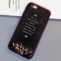 Harry Potter Quotes Printed Mobile Phone Cases For iPhone 6 6S Plus 7 7 Plus 5 5S 5C SE 4S Soft Rubber Skin Cover Shell OEM