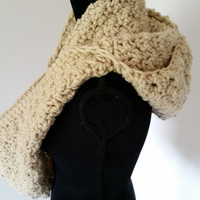 Hooded Scarf - Infinity Scarf, Scarves for Women, Gift for Her Crochet Hood Scarf, Bulky Scarf, Chunky Scarf, Winter Scarf