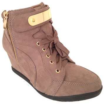 NEW Womens Wedge Sneakers High Top Fashion Heels Booties Ankle Boots Lace Shoes