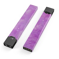 Skin Decal Kit for the Pax JUUL - Black Slanted Lines of Purple Clouds