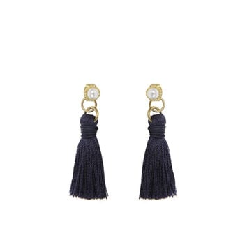 Pearl Stud With Tassel Earrings | MIXXMIX