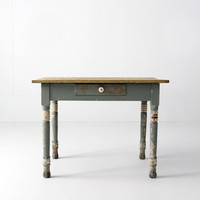 antique American painted wood table