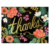 Birch Floral Folded Thank You Card