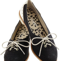 ModCloth Menswear Inspired Amalgam of the Year Flat in Black