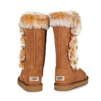 UGG Winter Popular Women Warm Fur Wool Snow Boots Half Boots Shoes Brown I/A