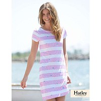 Shell Stripes Tee Shirt Dress in Rose by Hatley