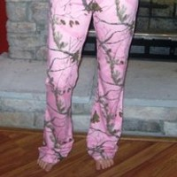 Lady Belle's Woman's Lounge Pants - Pink Realtree Camouflage