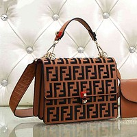 Fendi Women Fashion Shopping Leather Multicolor Shoulder Bag Satchel Crossbody-6