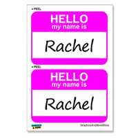 Rachel Hello My Name Is - Sheet of 2 Stickers