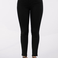 Work For It Twill Pants - Black