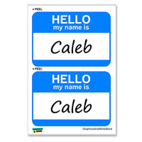 Caleb Hello My Name Is - Sheet of 2 Stickers