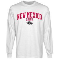 New Mexico Lobos Team Arch Long Sleeve T-Shirt - White