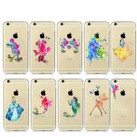 Cartoon Animal Kissing Mickey Minnie Mouse Soft Clear Tpu Case For Iphone 6s 6 5s 5