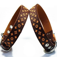 Pug Collar & Leashes Inspired by LV