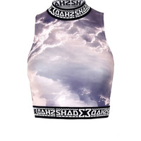 SHADE POLO CROP TOP - CLOUD