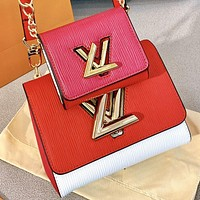 Hipgirls LV New fashion leather handbag shoulder bag crossbody bag two piece suit