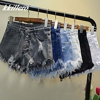 European and American BF jeans shorts