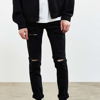 Dr. Denim Black Ripped Snap Skinny Jean - Urban Outfitters