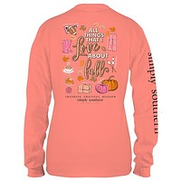 Sale Youth Simply Southern Preppy Love About Fall Fall Long Sleeve T-Shirt