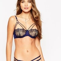 ASOS Valentina Corded Lace Caged Underwire Bra