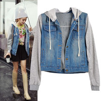 High Quality Fashion Women  Denim Coat Hoodie Jackets Women Jeans Vintage Jeans Jacket SV006799