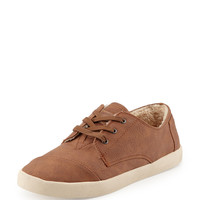 Paseos Faux-Leather Sneaker, Chestnut - TOMS