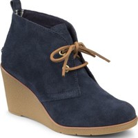 Sperry Top-Sider Harlow Suede Wedge Bootie Navy, Size 7.5M  Women's Shoes