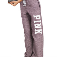 Lace-Up Boyfriend Pant - PINK - Victoria's Secret