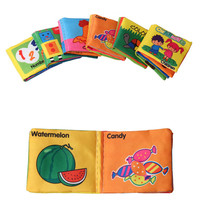 Baby Toys Soft Cloth Books Rustle Sound Infant Educational Stroller Rattle Toy Newborn Crib Bed Baby Toys 0-12 month